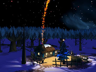 3d Christmas Night  wallpapers