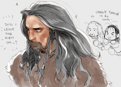 Thorin, Fili, and Kili from Midnight in Wonderland