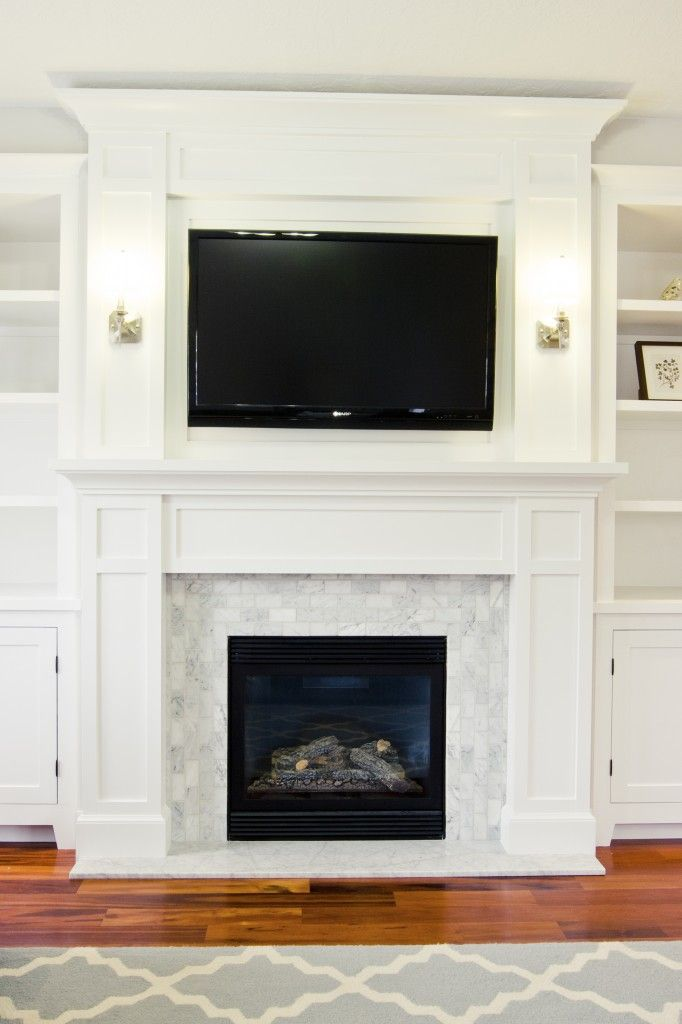 Our $200 Fireplace Makeover (Marble Tile & A New Mantel | Fireplaces, House  and Tile around fireplace - Our $200 Fireplace Makeover (Marble Tile & A New Mantel