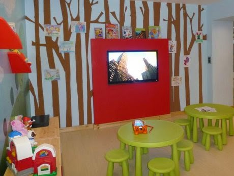 contemporary kids playroom with tv area DP Leire-Sol (from HGTV)