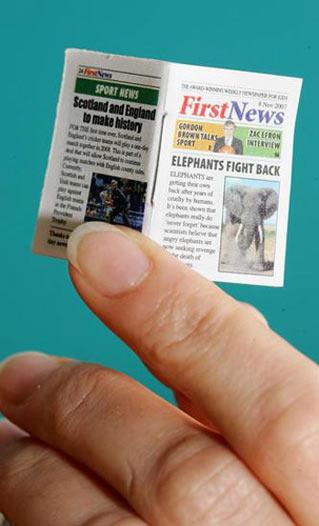 Surat Kabar Paling Terkecil Di Dunia