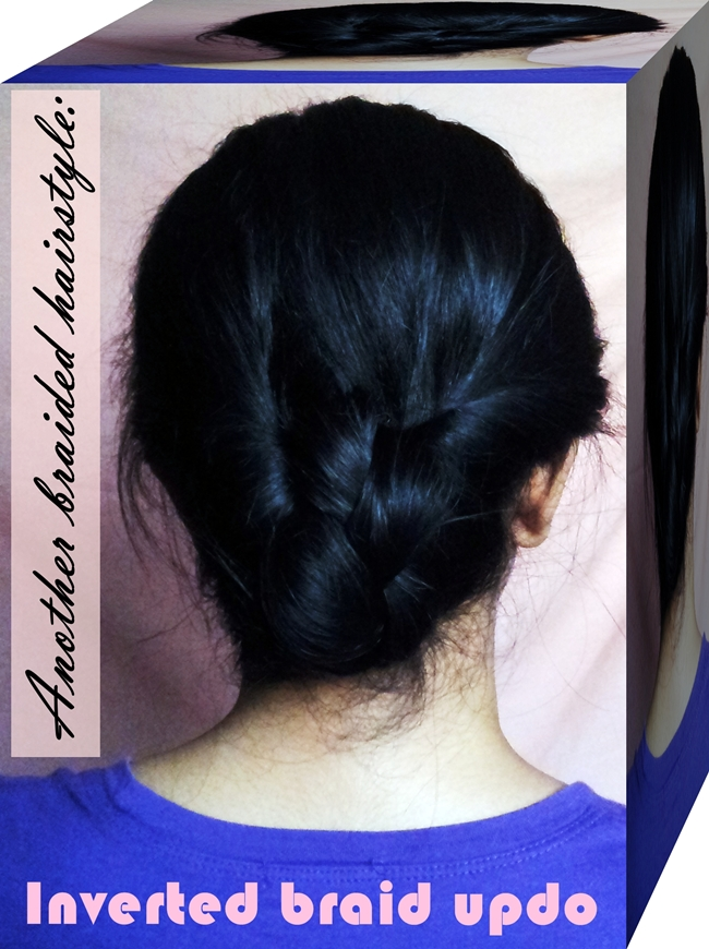 Another braided hairstyle: Inverted braid updo - Miss ...