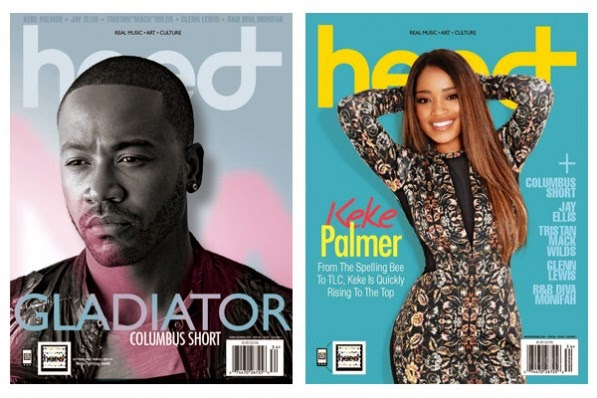 Magazine Love: Columbus Short and Keke Palmer Covers Heed Magazine!