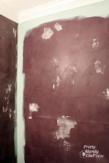 muro con angoli verniciati immagine