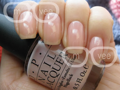 OPI pale pink swatch nail polish