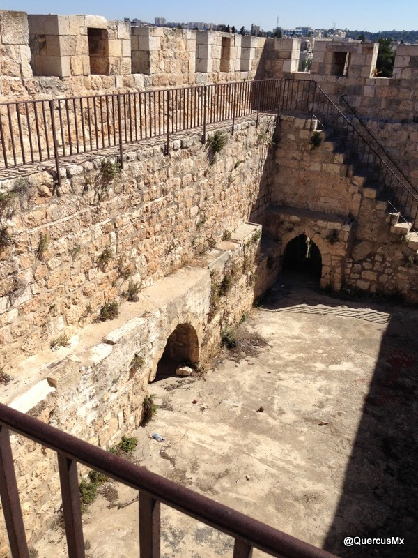 look-out in the ramparts of Jerusalem