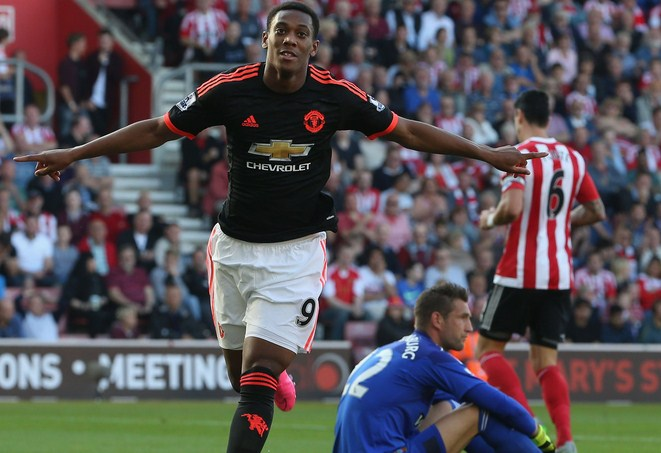 Anthony Martial Manchester United vs Soton Premier League