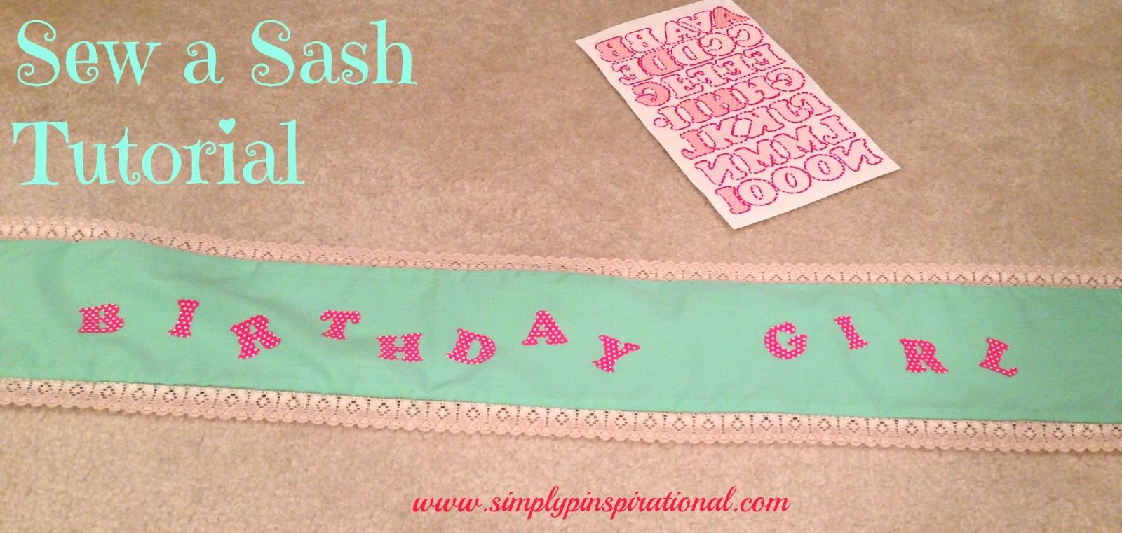 simply pinspirational  sew your own sash tutorial