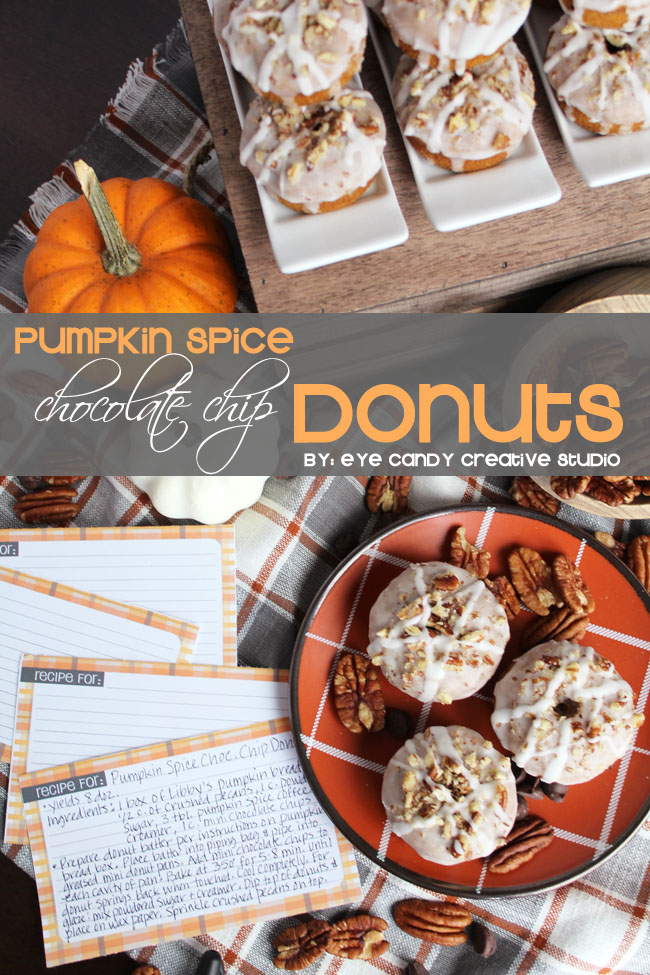 nestle holiday, thanksgiving, donut recipe, pumpkin spice, free recipe cards