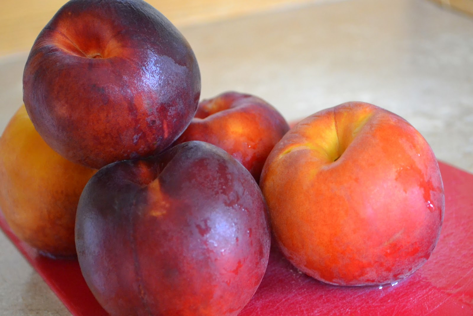 Homemade Peach Fruit Leather (she: Angela) - Or so she says...