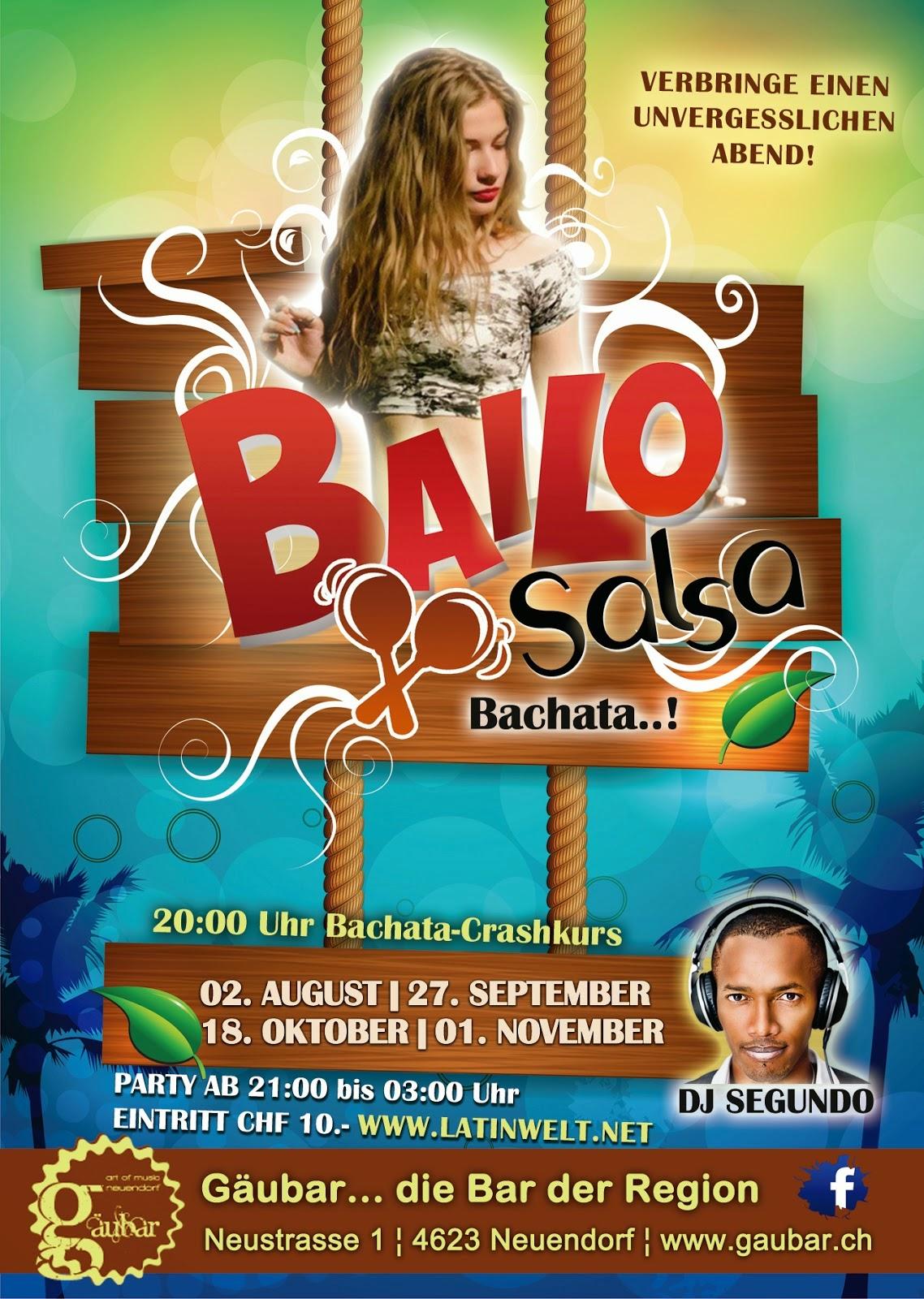 BAILO SALSA, BACHATA..!
