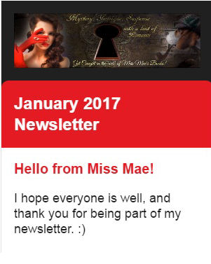 Miss Mae's Newsletter