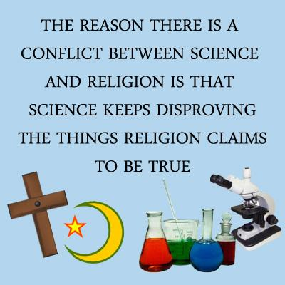 conflict between science and religion with This methodological conflict is the essential reason that science and religion are incompatible and not merely nonoverlapping professor barash falls into the trap of trying to apply scientific.