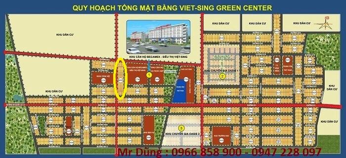 Bán đất nền dự án tại Khu đô thị Việt - Sing The Oasis, Huyện Thuận An, Bình Dương Block DC61 ảnh 2