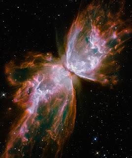 Туманность Бабочка (NGC 6302) в созвездии Скорпион