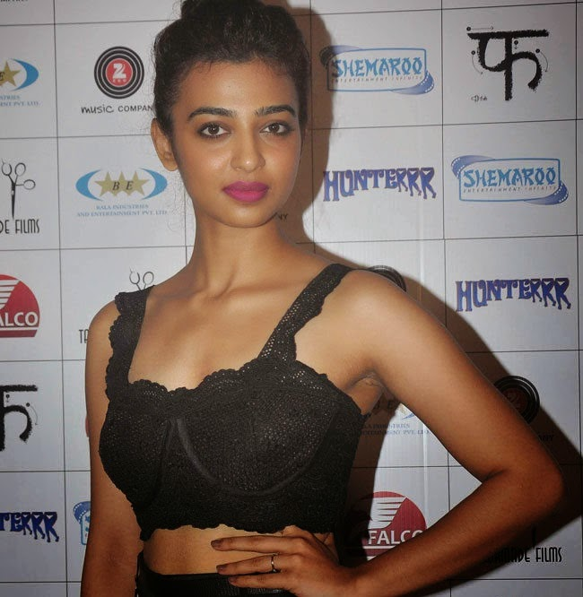 Radhika Apte Spicy Stills at Hunterrr Movie Success Party