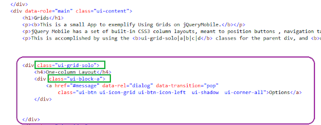 jQuery Mobile App using Grids For Android and BlackBerry   4
