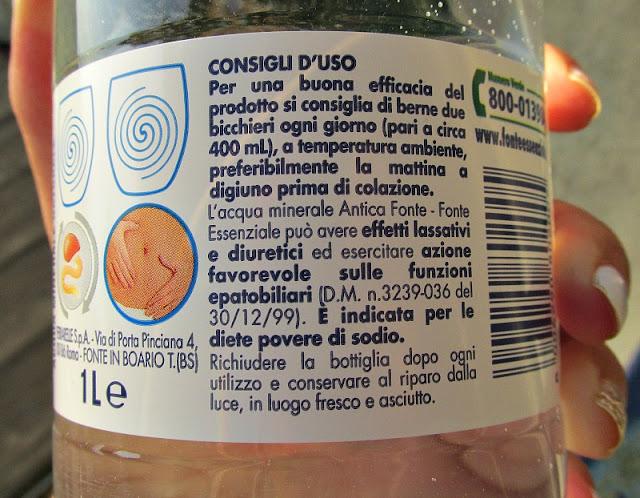 Consigli per l'uso Acqua Fonte Essenziale