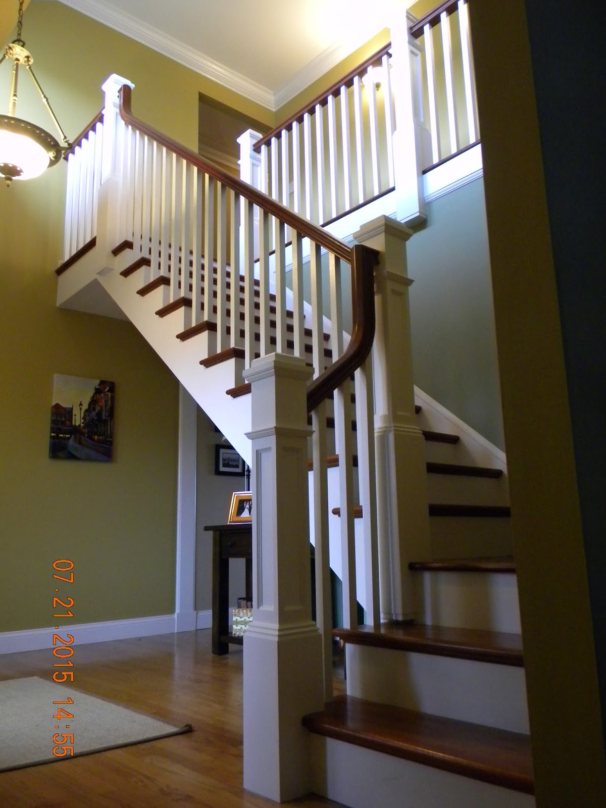 Brazillian Cherry Staircase At Jersey Shore House