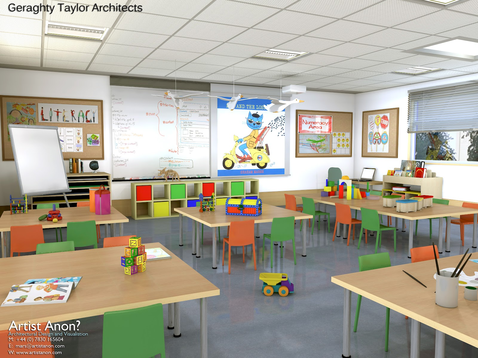 AA12 161 Class Room Primary Interior A Classroom Decoration Idea