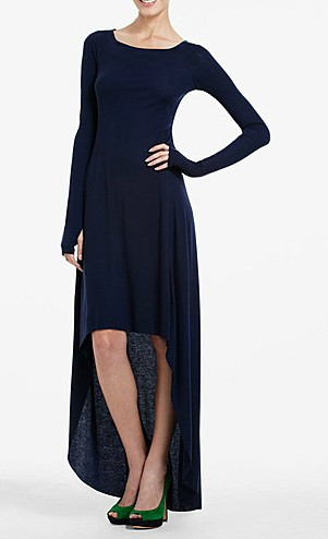 BCBGMAXAZRIA Donesa Long-Sleeved High-Low Dress