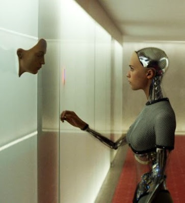 A screenshot from Ex Machina and the Android character.