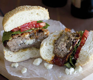 Blue Cheese-Stuffed Chipotle BBQ Burgers