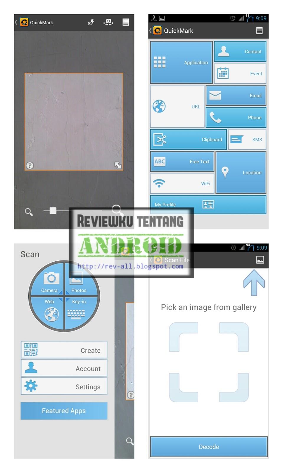 Screenshot tampilan aplikasi QUICKMARK - scan dan buat qr code dengan mudah di android (rev-all.blogspot.com)