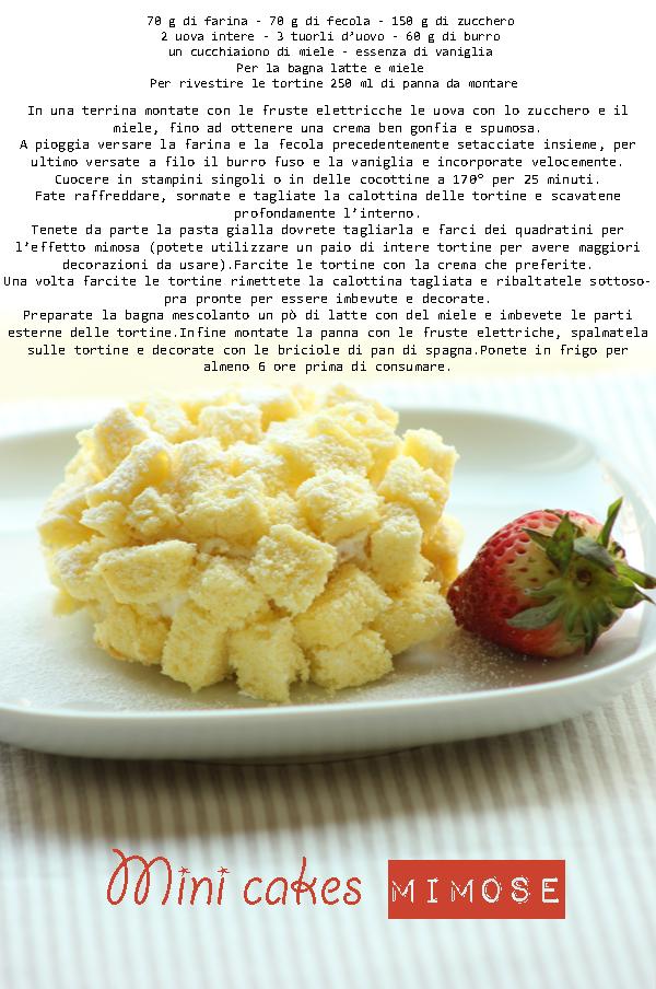 mini cakes mimose