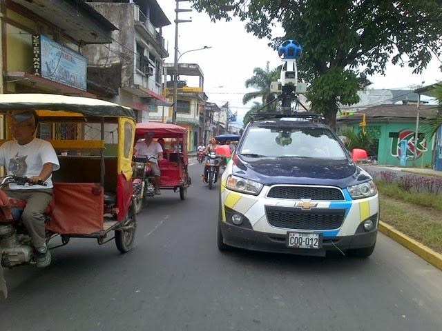 Google Maps recorriendo Iquitos por el Jr. Grau