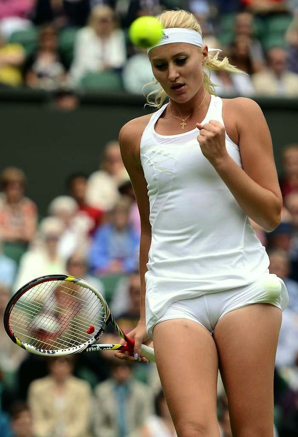 Women tennis players cameltoe