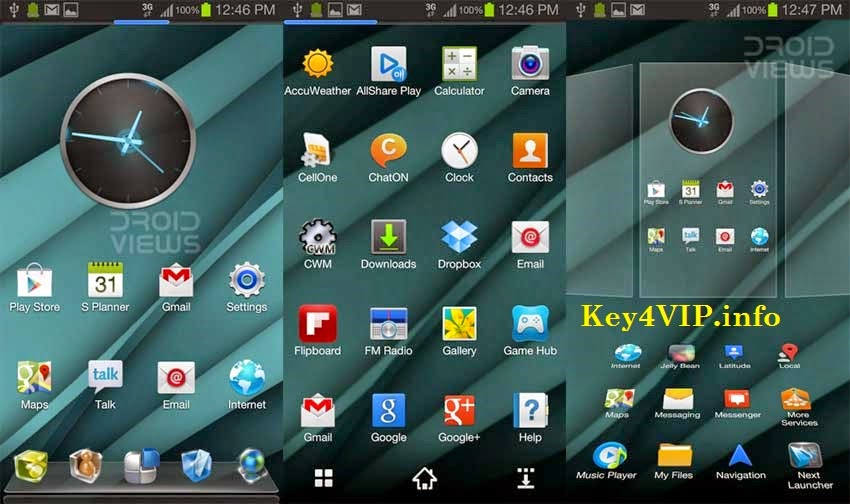 Next Launcher 3D Pro For Android,Giao diện 3D cho Android