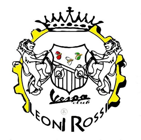 """stemma del """"Vespa Club Leoni Rossi"""""""
