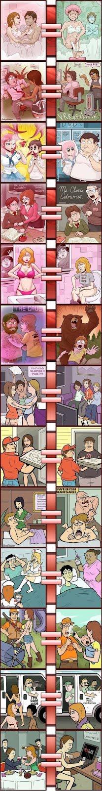Pornografia vs la realidad 3