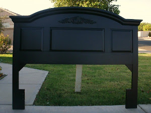 Black Broyhill Queen Headboard  *SOLD*