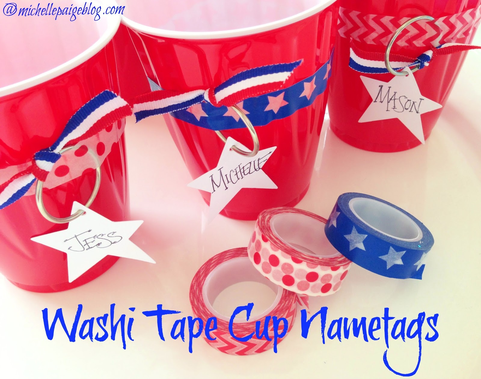 Washi Tape Cup Nametags