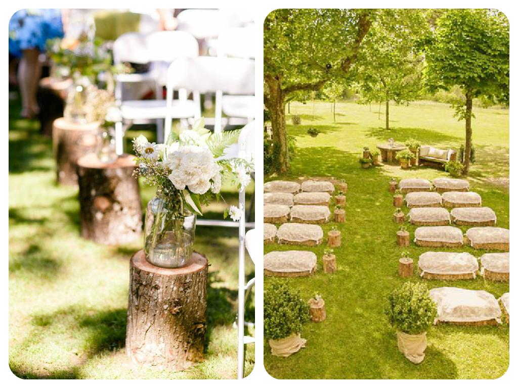 T para dos boda r stica for Decoracion rustica campestre