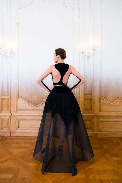 stephane rolland black princess evening dress