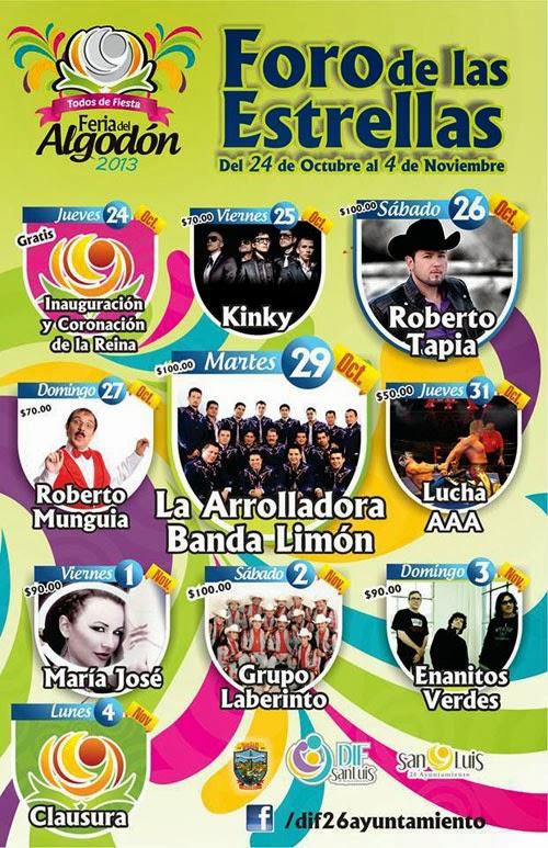Feria del Algodón San Luis Río Colorado 2013 | FERIAS DE MÉXICO