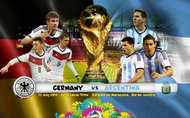 مشاهدة مباراة نهائي كاس العالم 2014 بث مباشر مباراة ألمانيا ضد الأرجنتين اليوم