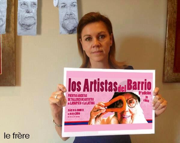 """""""Los artistas del barrio"""", """"Lavapiés"""",""""La Latina"""",""""Cospedal"""",""""elecciones"""",""""europa"""",""""arte"""""""