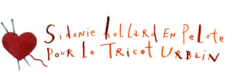 Sidonie Hollard en pelote pour le tricot urbain