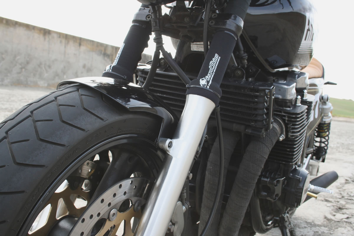 custom yamaha xjr 1200 exhaust and front end
