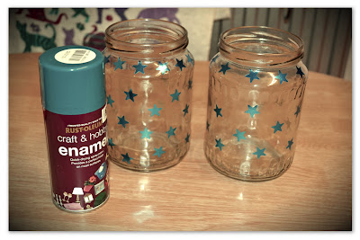 diy jam jar star lantern
