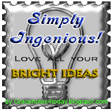 Simply Ingenious! blog award by Grace Baxter