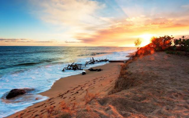 Atardecer HDR Imagenes de Hermosos Paisajes HDR de Playas