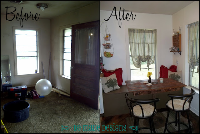 Breakfast Room Before & After {be made designs}