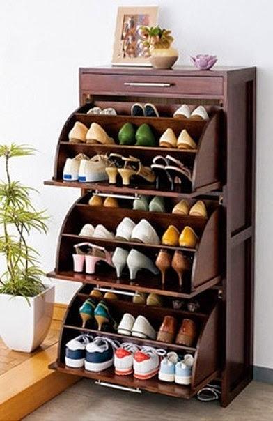 Organizador de madera para zapatos diy cositasconmesh for Zapatero horizontal