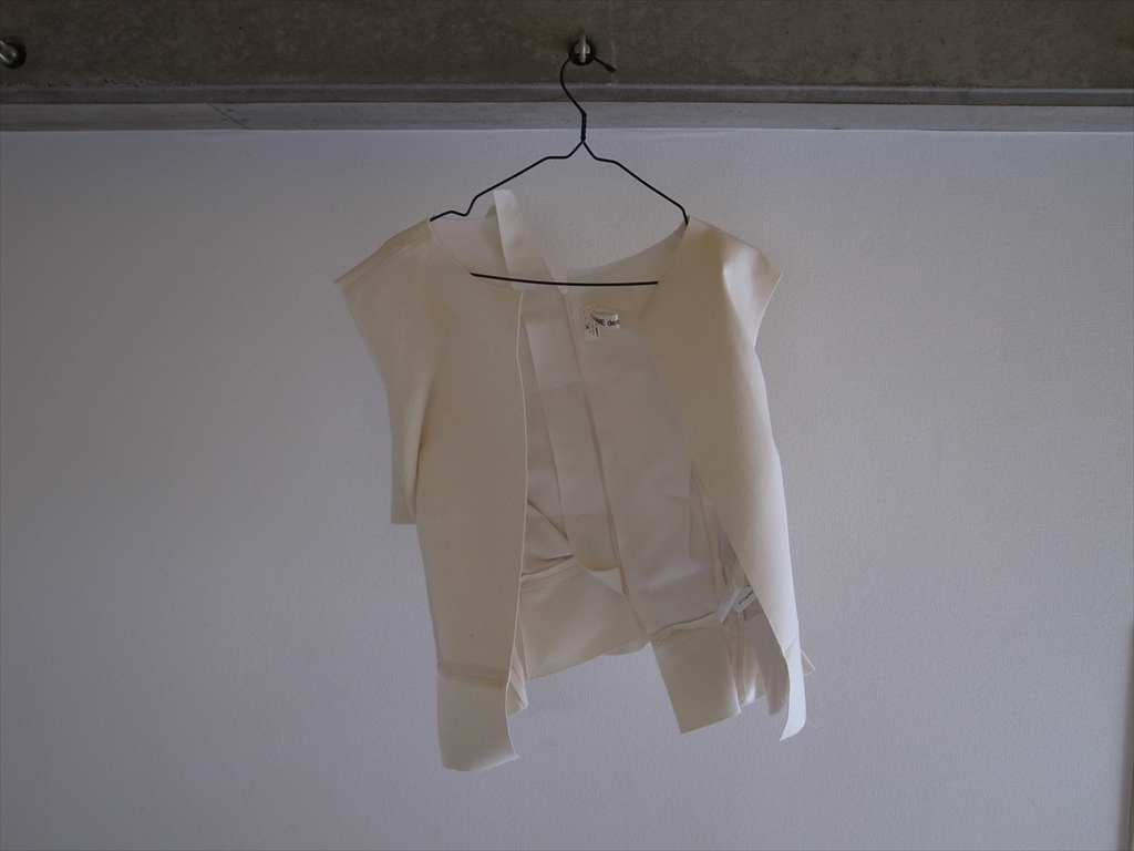 COMME des GARÇONS 2013 SS - CRUSH White Vest
