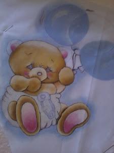 Começando a pintura.para um bebê fofinho..